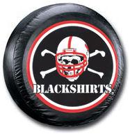 Nebraska Cornhuskers Tire Cover Blackskirts