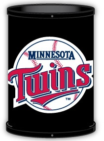 Minnesota Twins Trashcan