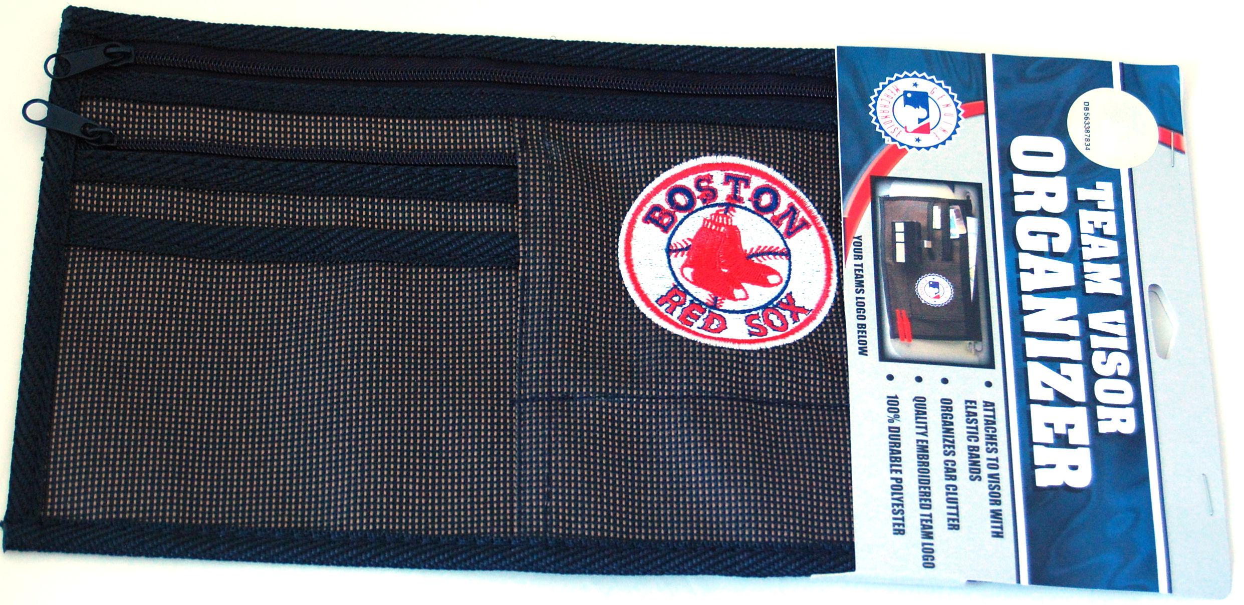 Boston Red Sox Car Visor Organizer