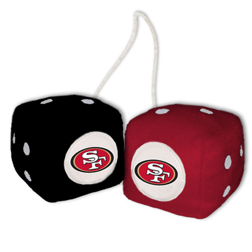 San Francisco 49ers Fuzzy Dice