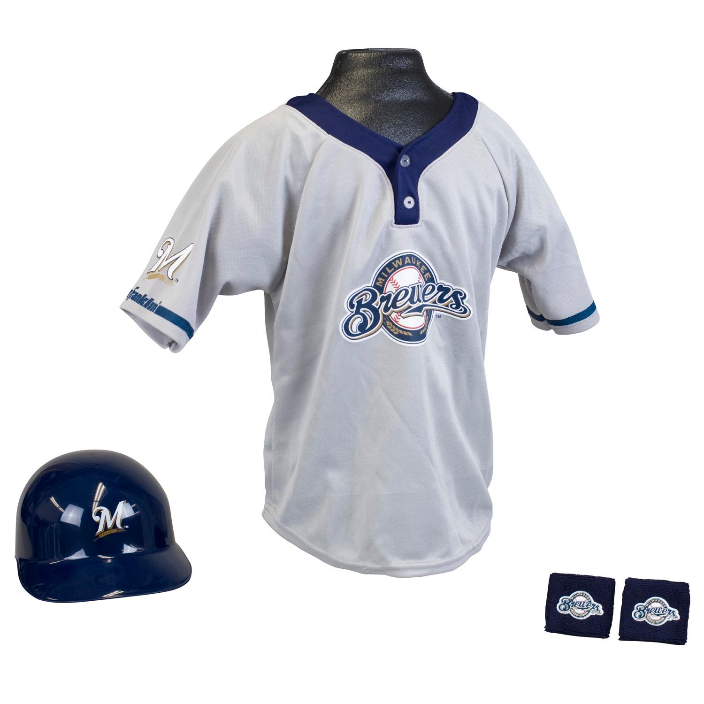 Milwaukee Brewers MLB Youth Uniform Set Halloween Costume