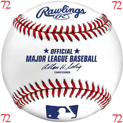 MLB Baseball Major League Baseballs Rawlings Official 1 CASE (72 baseballs)