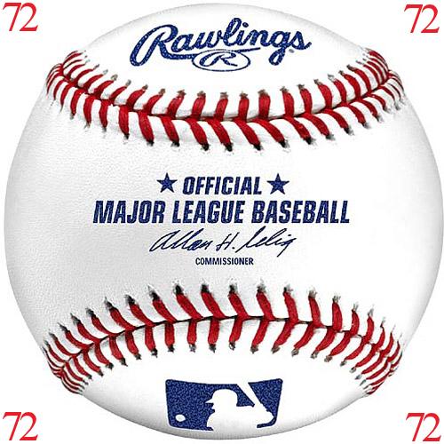 MLB Baseball Major League Baseballs Rawlings Official 1 CASE (72 baseballs)