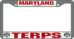 Maryland Terrapins License Plate Frame Chrome