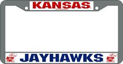 Kansas Jayhawks License Plate Frame Chrome