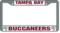 Tampa Bay Buccaneers License Plate Frame Chrome