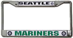 Seattle Mariners CHROME License Plate Frame