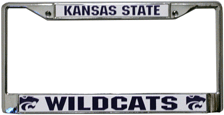 Kansas State Wildcats License Plate Frame Chrome