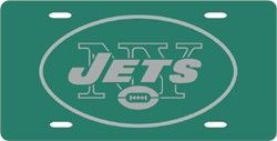 New York Jets Green License Plate Laser Cut