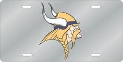 Minnesota Vikings License Plate Laser Cut Silver