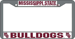 Mississippi State Bulldogs License Plate Frame Chrome