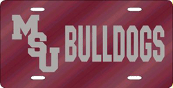 Mississippi State Bulldogs License Plate Laser Cut
