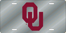 Oklahoma Sooners License Plate Laser Cut