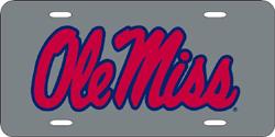 Mississippi (Ole Miss) Rebels License Plate Laser Cut