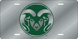 Colorado State Rams License Plate Laser Cut Silver