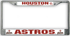 Houston Astros CHROME License Plate Frame