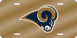 St. Louis Rams License Plate Laser Cut Gold