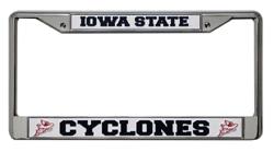 Iowa State Cyclones License Plate Frame Chrome