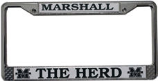 Marshall Thundering Herd License Plate Frame Chrome