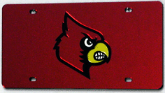 Louisville Cardinals License Plate Laser Cut