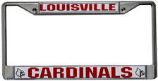 Louisville Cardinals License Plate Frame Chrome
