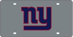 New York Giants License Plate Laser Cut Silver