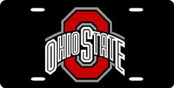 Ohio State Buckeyes License Plate Laser Cut