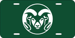 Colorado State Rams License Plate Laser Cut Green
