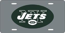 New York Jets License Plate Laser Cut Silver
