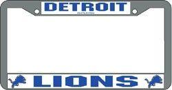 Detroit Lions License Plate Frame Chrome