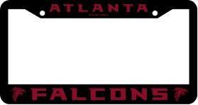 Atlanta Falcons License Plate Frame Chrome Black