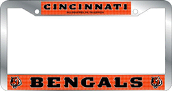 Cincinnati Bengals License Plate Frame Chrome Deluxe NFL