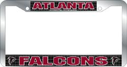 Atlanta Falcons License Plate Frame Chrome Deluxe NFL