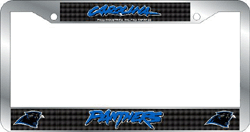 Carolina Panthers License Plate Frame Chrome Deluxe NFL