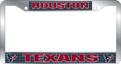 Houston Texans License Plate Frame Chrome Deluxe NFL