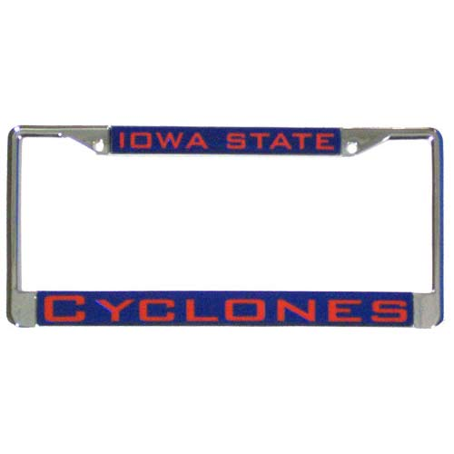 Iowa State Cyclones License Plate Frame Chrome Deluxe