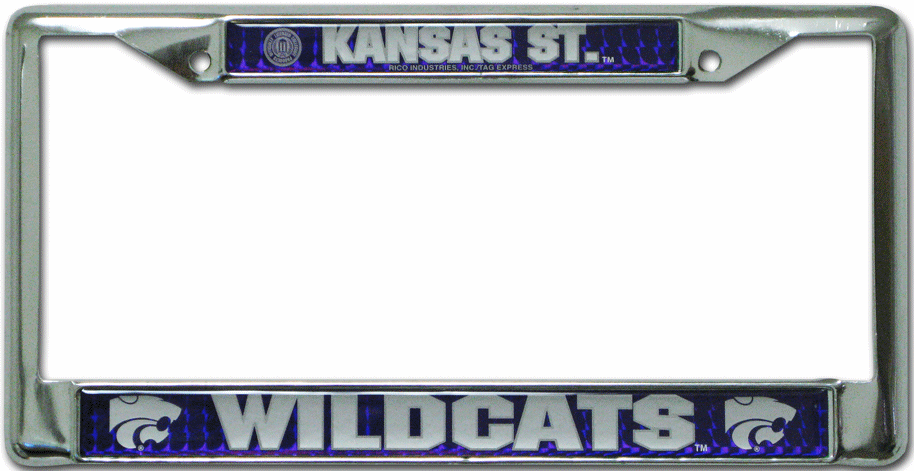 Kansas State Wildcats License Plate Frame Chrome Deluxe