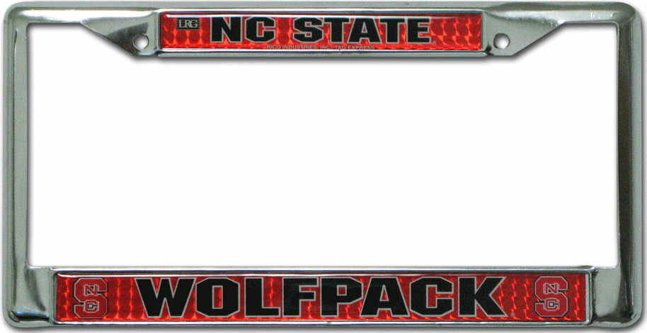 North Carolina State Wolfpack License Plate Frame Chrome Deluxe