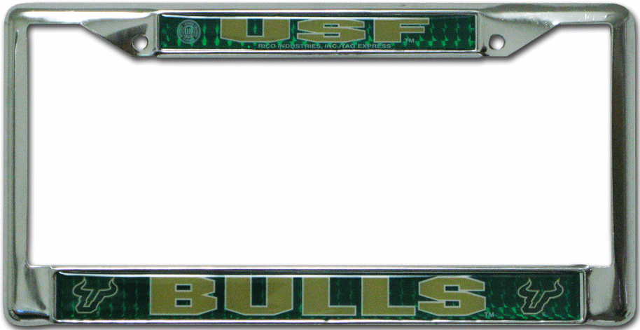 South Florida Bulls License Plate Frame Chrome Deluxe