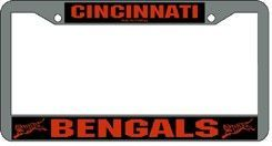 Cincinnati Bengals License Plate Frame Chrome