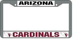 Arizona Cardinals License Plate Frame Chrome