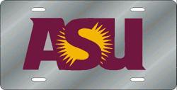 Arizona State Sun Devils License Plate Laser Cut