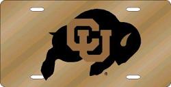 Colorado Buffaloes License Plate Laser Cut Gold