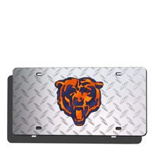 Chicago Bears License Plate Laser Tag