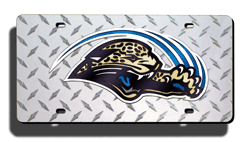 Jacksonville Jaguars Diamond Laser License Plate NO PAW