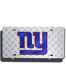 New York Giants License Plate Laser Tag