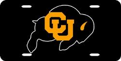 Colorado Buffaloes License Plate Laser Cut Black