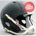 Helmets, Blank Mini Helmets: Mini Speed Football Helmet Shell Forest Green