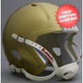Helmets, Blank Mini Helmets: Mini Speed Football Helmet Shell South Bend Gold
