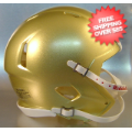 Helmets, Blank Mini Helmets: Mini Speed Football Helmet SHELL Vegas Gold